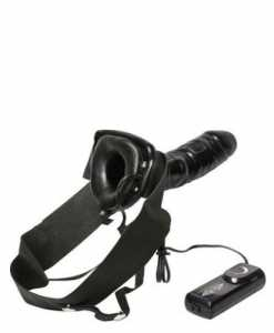 Strap On Robotic Vibrating Male Extension Black