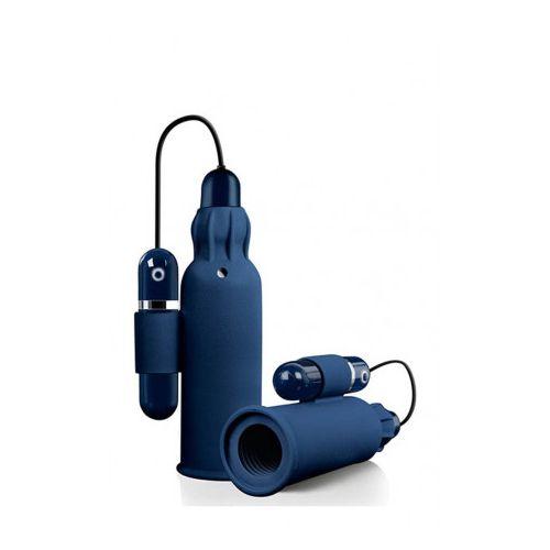 Masturbator cu vibratii din Silicon Tremble Stroker albastru