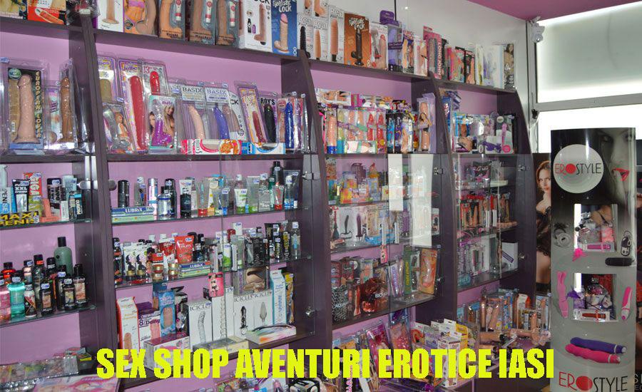 poza cu interiorul magazinului sex shop din Iasi