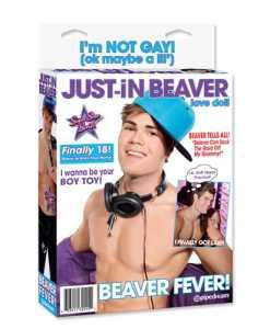 Papusa gonflabila Just-in Beaver ambalaj