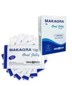 plicuri cu gel pentru erectie Makagra ambalaj