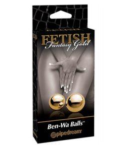bile gheise Gold Ben Wa Balls Fetish Fantasy ambalaj