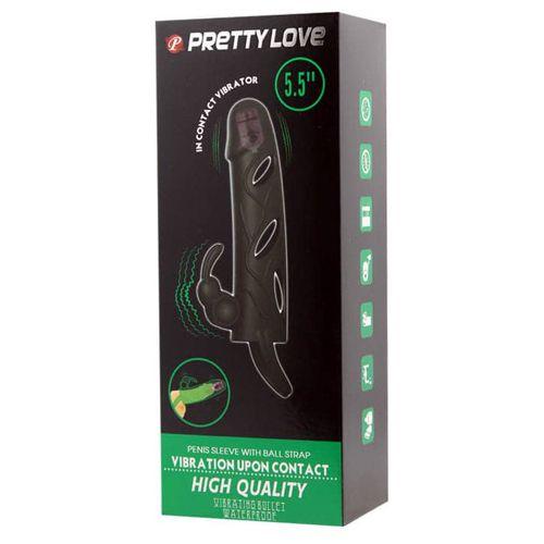 prelungitor penis cu vibratii Pretty Love ambalaj