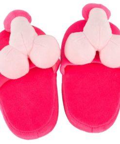 Papuci de Casa Roz cu Penis poliester