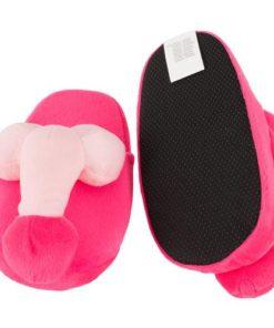 Papuci de Casa Roz cu Penis talpa