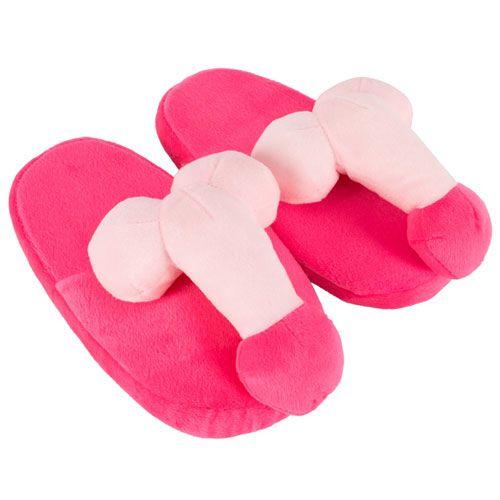 Papuci de Casa Roz cu Penis