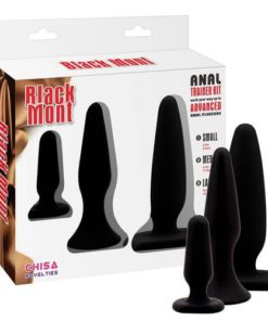 Set Butt Plug Black Mont Anal Trainer Kit ambalaj
