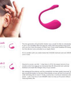 Vibrator Lovense Lush 2 sex shop iasi