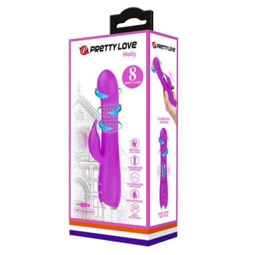 Vibrator Rabbit Pretty Love Molly Purple