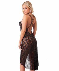 Rochie Sexy cu Dantela Rimba Nightdress