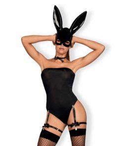 Costum de Iepuras Bunny Obsessive Negru