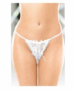 Bikini Cu Volane String 2282 Alb