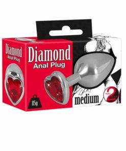 Butt Plug Metal Diamond Medium You2Toys