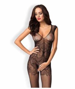 Catsuit Bodystocking F234 Negru Obsessive