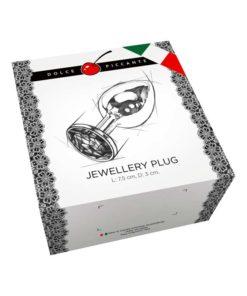 Butt Plug Jewellery Silver cu Nervuri