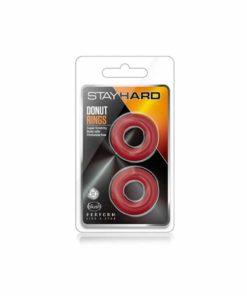 Ambalaj-set-inele-penis-Stay-Hard-Donut-Rings-Red
