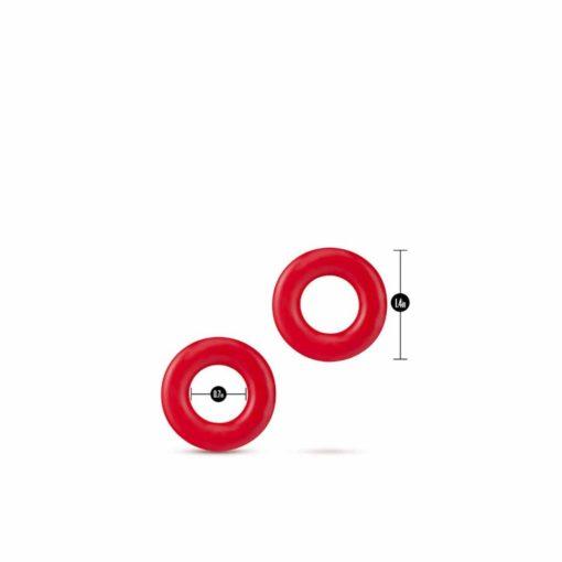 Dimensiune-set-inele-penis-Stay-Hard-Donut-Rings-Red